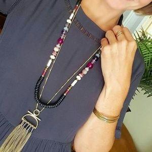 [Stella & Dot] Genevieve Tassel Necklace 2 in 1